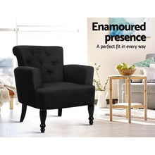 Load image into Gallery viewer, Lorraine Wingback Armchair, Upholstered, Black