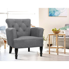 Load image into Gallery viewer, Lorraine Wingback Armchair, Upholstered, Grey