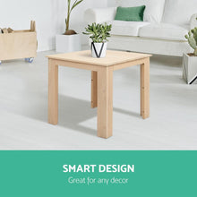 Load image into Gallery viewer, Outdoor Side Table, Wooden, Natural