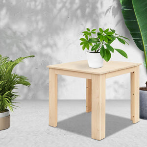 Outdoor Side Table, Wooden, Natural