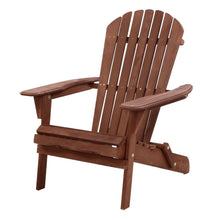 Load image into Gallery viewer, Gardeon Outdoor Furniture Beach Chair Wooden Adirondack Patio Lounge Garden