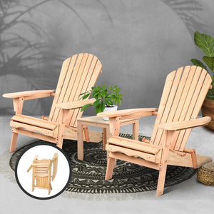 Outdoor Table & Chair Set, Natural