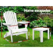 Load image into Gallery viewer, Outdoor Setting, 3 Piece, Wooden, White