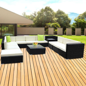 Outdoor Sofa Lounge Set, 12 Piece, Wicker