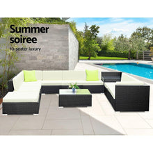 Load image into Gallery viewer, Outdoor Sofa Lounge Set, 12 Piece, Wicker