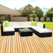 Load image into Gallery viewer, Outdoor Sofa Lounge Set, 8 Piece, Wicker
