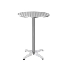 Load image into Gallery viewer, Gardeon Aluminium Adjustable Round Bar Table - Silver