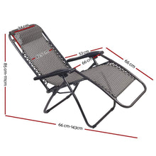 Load image into Gallery viewer, Zero Gravity Recliner, Portable, Grey