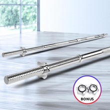Load image into Gallery viewer, Barbell Bar Set, Steel, 3 Piece, Chrome, 168cm