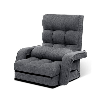 Armchair Recliner & Chaise, Adjustable, Grey