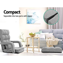 Load image into Gallery viewer, Armchair Recliner & Chaise, Adjustable, Light Grey
