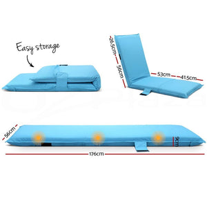 Adjustable Sun Lounger, Blue