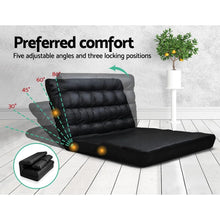 Load image into Gallery viewer, Huffel Sofa Bed, Leather, Black, Double
