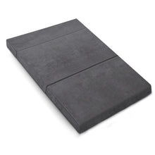 Load image into Gallery viewer, Giselle Bedding Double Size Folding Foam Mattress Portable Bed Mat Velvet Dark Grey