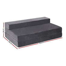 Load image into Gallery viewer, Folding Foam Mattress, Dark Grey, Double