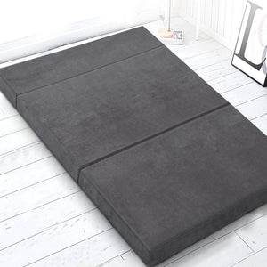 Folding Foam Mattress, Dark Grey, Double