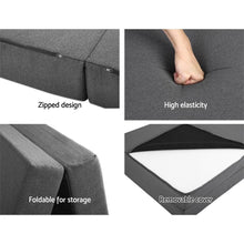 Load image into Gallery viewer, Portable Bed Mattress, Folding Foam, Dark Grey, Double