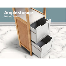 Load image into Gallery viewer, Wilder Bathroom Cabinet, Natural & Grey