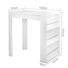 Load image into Gallery viewer, Storage Bar Table, 3 Level, White