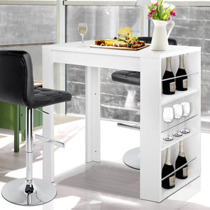 Storage Bar Table, 3 Level, White