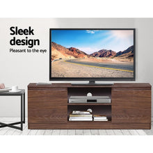 Load image into Gallery viewer, Entertainment Unit & Storage, Walnut