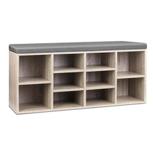 Load image into Gallery viewer, Artiss Bench Wooden Shoe Rack Storage