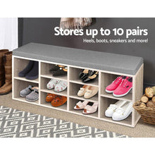 Load image into Gallery viewer, Jarlow Bench Shoe Storage, Wooden