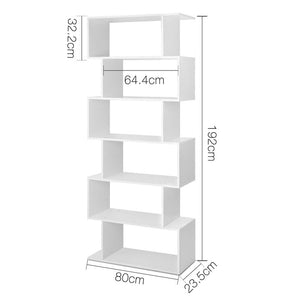 Clementine Display Shelf, 6 Tier, White