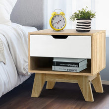 Load image into Gallery viewer, Arden Bedside Table, w/ Drawer White