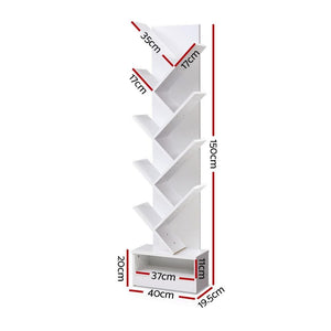 Brouwer Bookshelf, 9 Tier, White