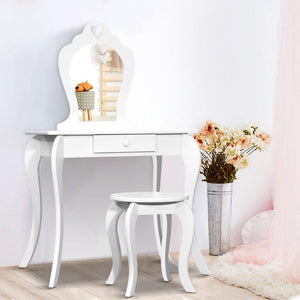 Kids Vanity Dressing Table, White