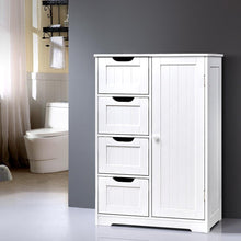 Load image into Gallery viewer, Bathroom Tallboy Storage Cabinet, White