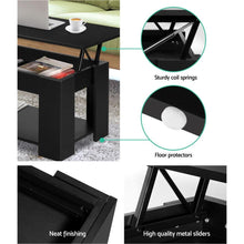 Load image into Gallery viewer, Looper Lift-Top Coffee Table, Black
