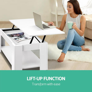 Looper Lift-Top Coffee Table, White