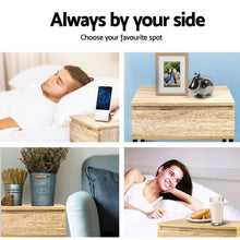 Load image into Gallery viewer, Josie Bedside Table, Metal & Wood