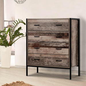 Goya Chest of Drawers, Industrial Rustic, Dark Brown