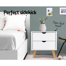 Load image into Gallery viewer, Sherie Bedside Table, w/ 2 Drawers, White