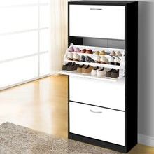 Load image into Gallery viewer, Denby 4 Compartment Shoe Cabinet, Black