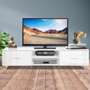 Contemporary TV Unit, White, 160cm