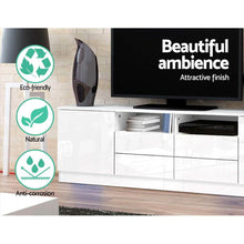 Load image into Gallery viewer, Vasanti Entertainment Unit, 4 Drawer, High Gloss White, 180cm