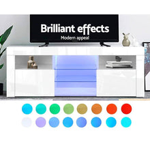 Load image into Gallery viewer, Alana Entertainment Unit, LED, White, 145cm