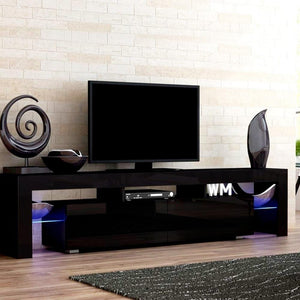 Fener Entertainment Unit, LED, Glass, Black, 189cm
