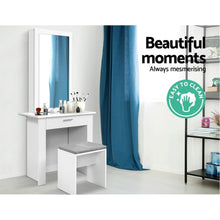 Load image into Gallery viewer, Amor Dressing Table & Stool, White