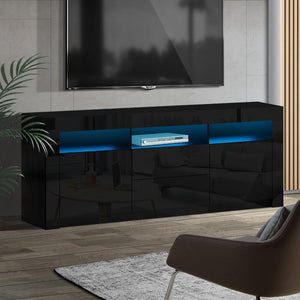 Entertainment Unit, LED, Gloss Black, 160cm