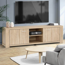 Load image into Gallery viewer, TV Cabinet Entertainment Unit, TV Stand Display Shelf Storage Cabinet, Wooden, Oak, 160cm x 40cm x 45cm