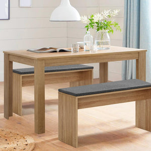 Zinnia Dining Table, Rectangle, 4-Seater, Wood, Oak, 120cm