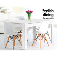 Load image into Gallery viewer, Zinnia Dining Table, Rectangle, 4-Seater, Wood, White, 120cm