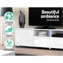Load image into Gallery viewer, Reinger Entertainment Unit, High Gloss White, 205cm