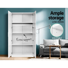 Load image into Gallery viewer, Meyer Multi-Purpose Cupboard, White, 2 Door, 180cm