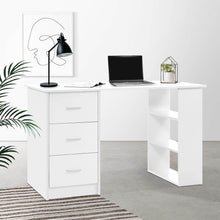 Load image into Gallery viewer, Bobb Computer Desk, w/ 3 Drawers, White, 120cm